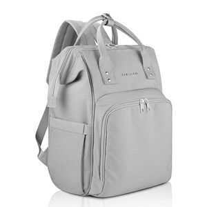 AMILLIARDI Diaper Bag Backpack Unisex Pastel Gray